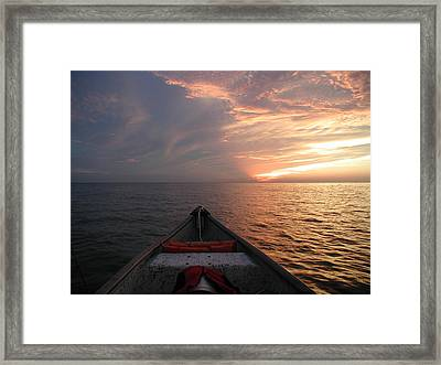 Framed Print featuring the photograph Out To Sea by Nancy Taylor