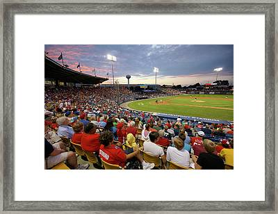 Out To The Ballgame Framed Print