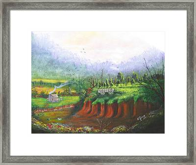 Out West Framed Print by Betty Reineke