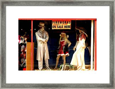 Out With A Bang Framed Print by Jez C Self