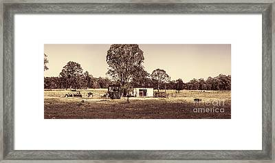 Outback Country Australia Panorama Landscape  Framed Print