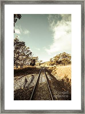Outback Country Railway Tracks Framed Print by Jorgo Photography - Wall Art Gallery