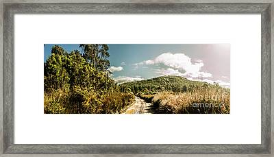 Outback Country Road Panorama Framed Print