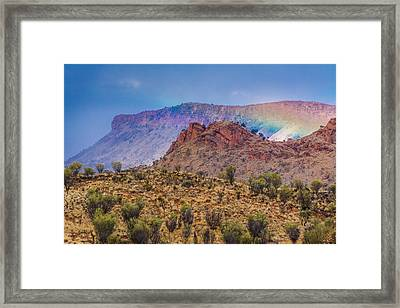 Outback Rainbow Framed Print