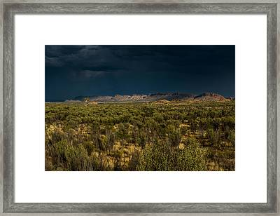 Outback Storm Framed Print by Racheal Christian