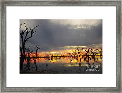 Outback Sunset Framed Print by Blair Stuart