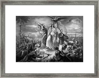 Outbreak Of Rebellion In The United States 1861 Framed Print