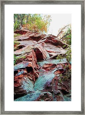 Outcrop At Wildcat Den Framed Print