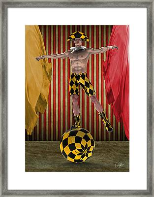 Outdated Circus Framed Print by Quim Abella