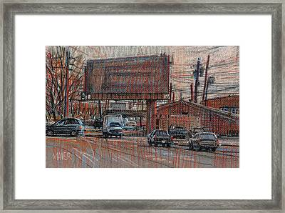 Outdoor Advertising Framed Print by Donald Maier