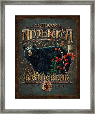 Outdoor Bear Framed Print by JQ Licensing