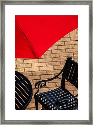 Outdoor Cafe Style Framed Print by Karol Livote