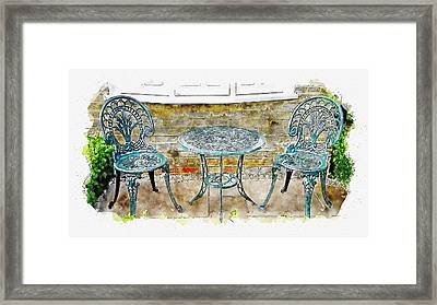 Outdoor Dining Framed Print