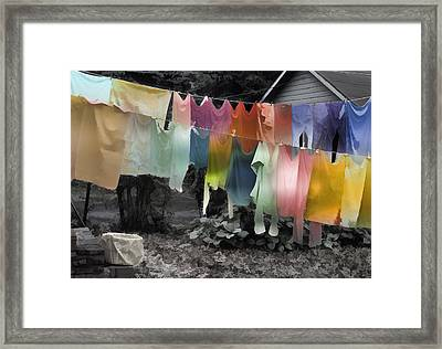 Outdoor Dry Cycle Framed Print