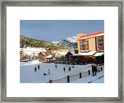 Outdoor Hockey Framed Print