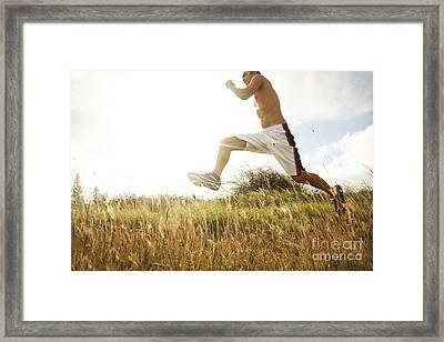 Outdoor Jogging IIi Framed Print by Brandon Tabiolo - Printscapes