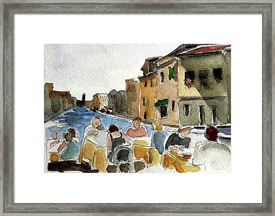 Outdoor Lunch Framed Print by Janet Butler