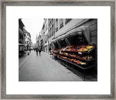 Outdoor Market Framed Print