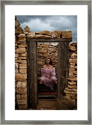 Outdoor Outhouse Framed Print
