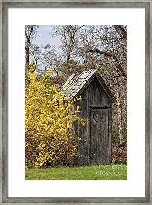 Outdoor Plumbing Framed Print by Nicki McManus