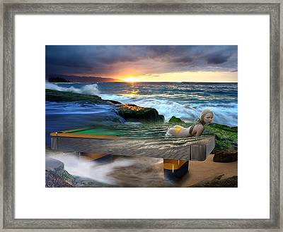 Outdoor Pool Framed Print by Draw Shots
