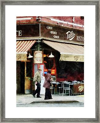 Outdoor Seating Framed Print