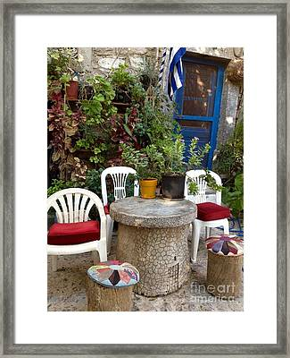 Outdoor Spot Greece Mesta Framed Print by Viktoriya Sirris