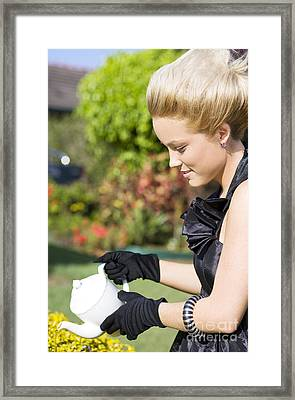 Outdoor Tea Party Framed Print by Jorgo Photography - Wall Art Gallery