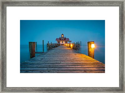 Outer Banks Manteo Nc Roanoke Marshes Lighthouse Obx North Carolina Framed Print by Dave Allen