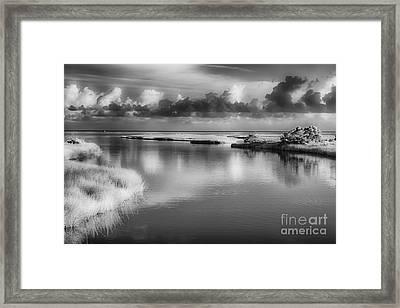 Outer Banks Memories 2 Bw Framed Print by Dan Carmichael