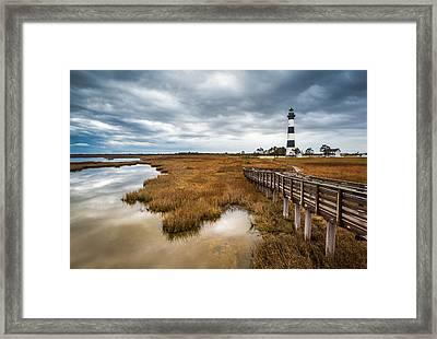 Outer Banks North Carolina Bodie Island Lighthouse Landscape Nc Framed Print by Dave Allen