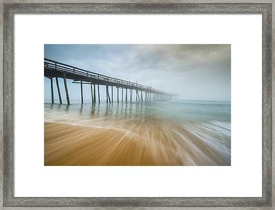 Outer Banks North Carolina Nags Head Obx Nc Beach Pier Seascape Framed Print