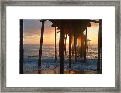 Outer Banks Pier 7/6/18 Framed Print