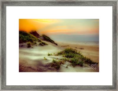 Outer Banks Soft Dune Sunrise Fx1 Framed Print by Dan Carmichael