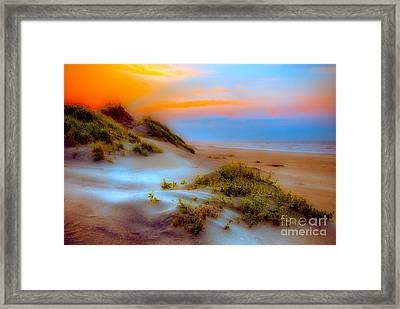 Outer Banks Soft Dune Sunrise Fx2 Framed Print by Dan Carmichael