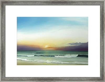 East Coast Sunrise Framed Print by Albert Puskaric