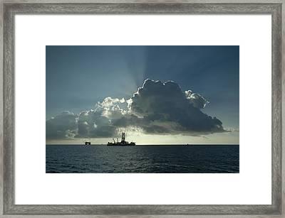 Outer Continental Shelf Oilfield  Framed Print by Bradford Martin