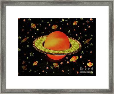 Outer Harvest Moons Framed Print