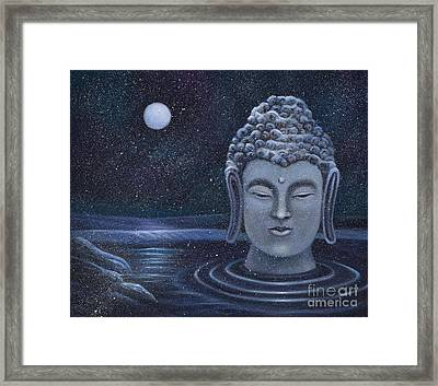 Winter Buddha Framed Print