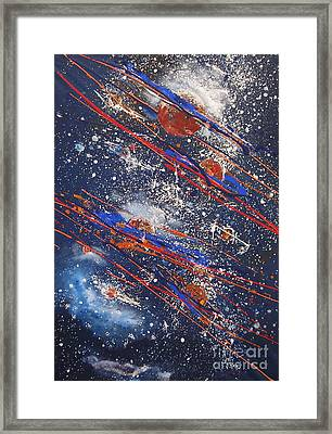 Outer Space Framed Print by Miroslaw  Chelchowski
