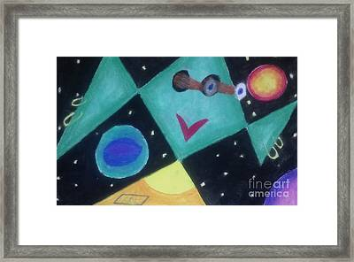Outermost Being Looking In Framed Print by Brenda Robinson