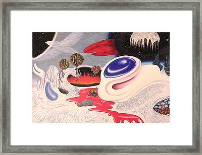 Outerspace Landscape Framed Print by Vince Plzak