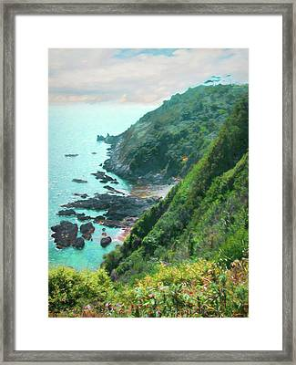 Framed Print featuring the photograph South End Of Guernsey by Bellesouth Studio