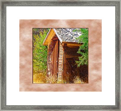 Framed Print featuring the photograph Outhouse 1 by Susan Kinney