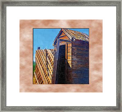 Framed Print featuring the photograph Outhouse 2 by Susan Kinney