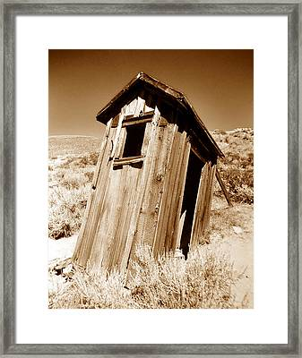 Outhouse At Bodie Framed Print