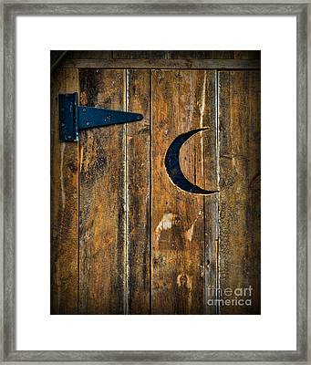 Outhouse Door  Framed Print