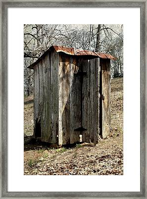 Outhouse Framed Print by Gayle Johnson