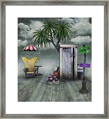 Outhouse Framed Print by Jutta Maria Pusl
