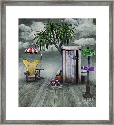 Outhouse Framed Print by Jutta Maria Pusl